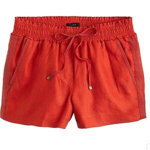 JCrew Linen Drawstring Shorts